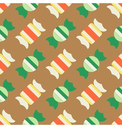 Seamless background with candy vector