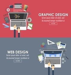 Banners for graphic design and web design vector