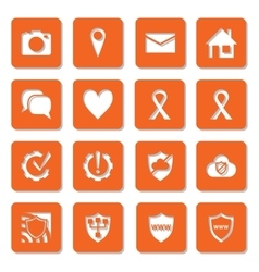 Social media network security and settings icons vector