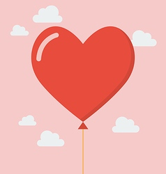 Heart balloon icon vector