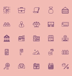 Mortgage and home loan purple line icons vector