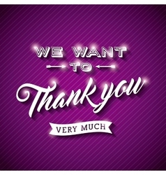 Thank you card design vector