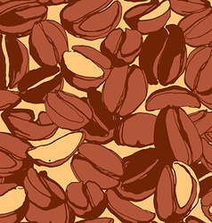 Grungy hand drawn ink roasted coffee beans vector