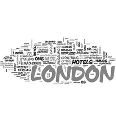 A quick guide to london text word cloud concept vector