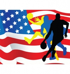 american sportsmen background vector image vector image