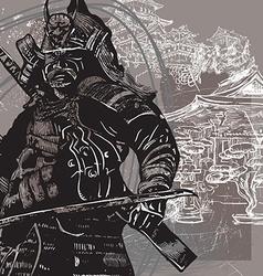 An hand drawn from Japan Culture - Samurai Shogun vector image vector image