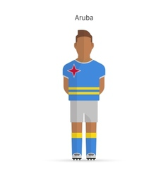 Aruba football player soccer uniform vector