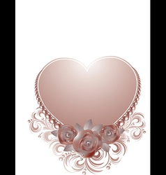 Beautiful valentine card vector image