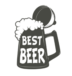 Best beer vintage beer mug vector