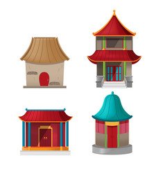 china house design collection set vector image