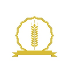 Ears wheat logo or emblem mockup concept organic vector image
