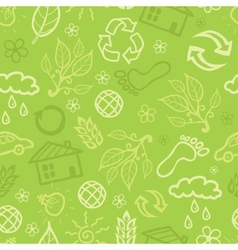 Environmental seamless pattern background vector image