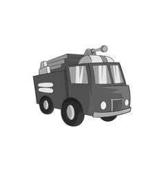 Fire truck icon black monochrome style vector