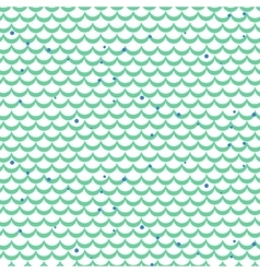 Fish scale green seamless pattern vector