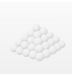 Golf balls made a pyramid vector image vector image