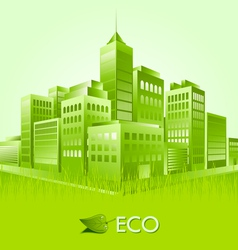 Green eco town suitable for ecologic purposes vector