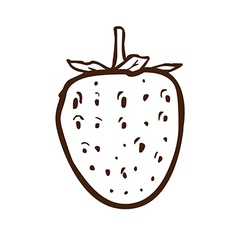 Hand drawn strawberry vector
