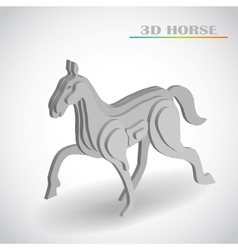 horse 3d vector image vector image