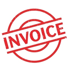 Invoice rubber stamp vector