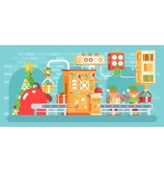 isolated Christmas conveyor with vector image vector image