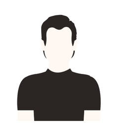 monochrome half body man without face vector image vector image