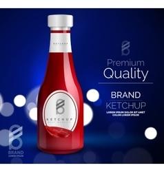 premium ketchup ad template vector image