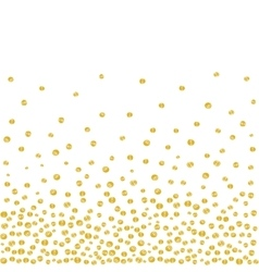 Random falling golden dots background vector