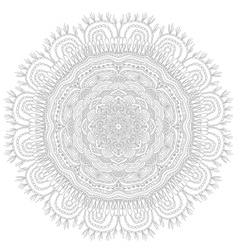 Round ethnic pattern vector image