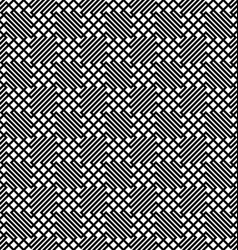 Seamless monochrome zig zag grid pattern vector