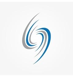 Spiral and swirls logo design elements vector