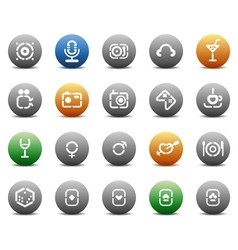 Stencil round buttons for entertaiment vector image vector image