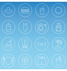 Travelling thin line icons set vector image vector image