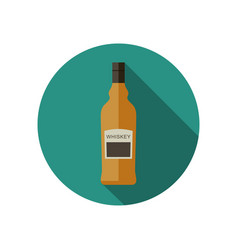 Whiskey icon in flat style vector