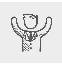 Winner sketch icon vector
