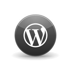 Wordpress alt icon simple style vector