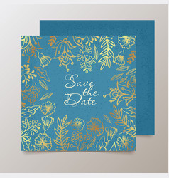 Trendy card with flower for weddings save the vector