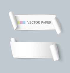 paper ribbon realistic vector image