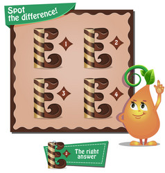 Spot the difference letters e vector