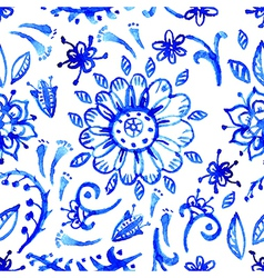 Blue watercolor pattern vector image