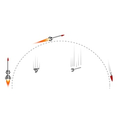 Two-stage rocket flight cycle vector