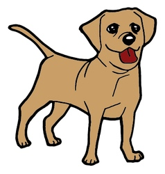 Dog cartoon vector