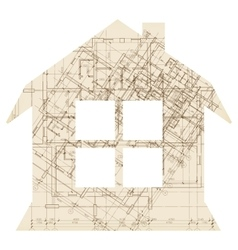 House with window architecture icon vector image