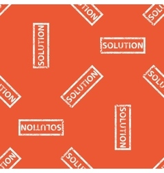 Orange solution stamp pattern vector