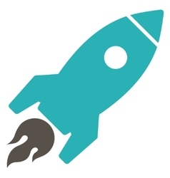 Rocket launch icon from commerce set vector