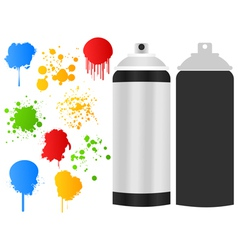 aerosol paint stain vector image