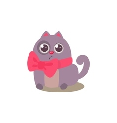 Cat in bow vector