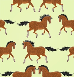 Seamless texture dark horses stallion vector