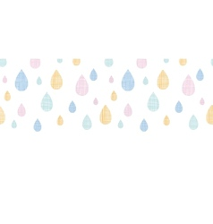 Abstract textile colorful rain drops horizontal vector image vector image