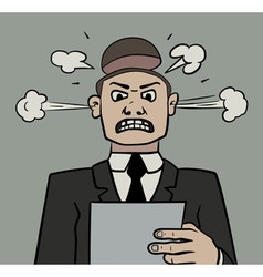 Angry manager vector