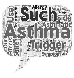 Asthma Attack Treatment Thanks To Hypnosis text vector image vector image